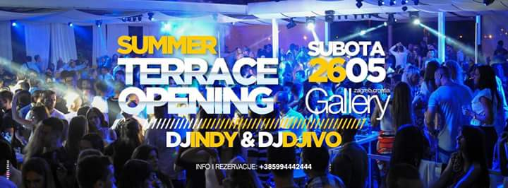 26/05/2018 SUMMER TERRACE OPENING w/DJ INDY&DJ IVO