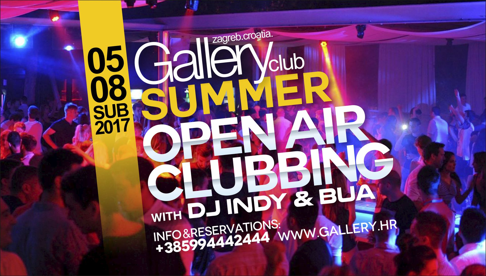 05/08/2017 SUMMER OPEN AIR CLUBBING with DJ INDY & DJ BUA