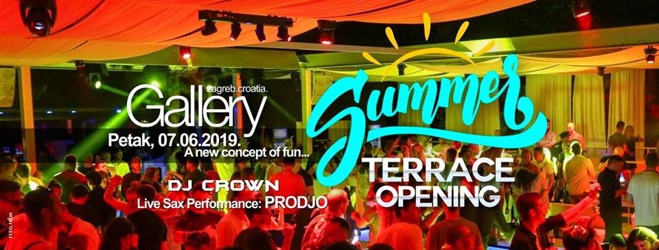 07/06/2019 SUMMER TERRACE OPENING w / DJ CROWN